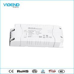 20W Driver de LED avec ce SAA Les certificats utilisent pour éclairage du panneau à LED