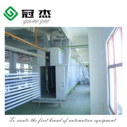 La línea de revestimiento en polvo electrostático automático para el perfil de aluminio