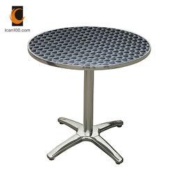 Tabella pranzante di resistenza del metallo di banchetto del ristorante di alluminio a temperatura elevata dei bistrot (DT-06164R)