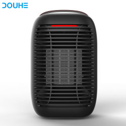 2019 L'hiver nouveau double chauffage PTC de protection de sécurité de la céramique noir de bureau Portable Mini ventilateur électrique Réchauffeur pour bureau à domicile (DH-QNK07)