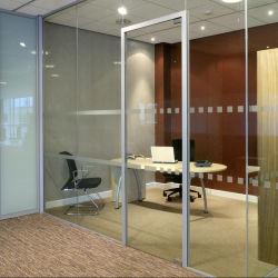 Bureau de la taille personnalisée de pivotement double en aluminium porte en verre pour Commerical