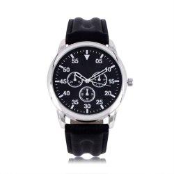 Drie Horloges van het Leer van de Legering van het Horloge van Kleuren voor Mensen (jy-AL052)