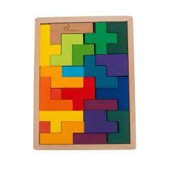 21 кусок дерева в области образования для детей Tangram головоломки головоломки детей игрушки