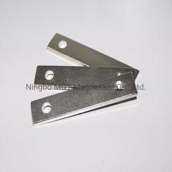 NdFeB Recubrimiento de níquel sólido bloque de embutido permanente el material magnético