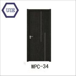 防水反べと病の木製のプラスチック合成の内部ドアWPC-034/035