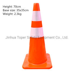 オレンジPVC安全道路交通の円錐形の反射テープ70cm (JT070)
