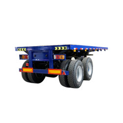 20FT 28 FT 40 FT 45FT BPW Fuwa Axles 또는 Jost Landing Gear/Wabco Brake Valves를 가진 2 Axle 3 Axles Flat Bed Platform Flatbed Container Semi Trailer