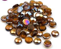 Großverkauf farbige Acajoubaum-Glaskiesel-Raupen für Kamin-Feuer-Vertiefung