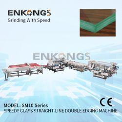 الزجاج خط معالجة مزدوج التسمية مع عمود دوران ناقل الحركة ذو الحزام