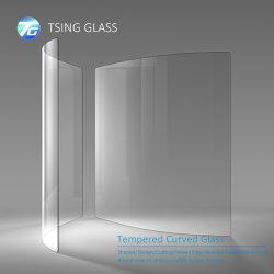 カスタムメイドカーブドガラス / 強化カーブドガラス / 熱曲げガラス / カーブドガラス 冷凍庫 / オーブン / フィンス / レールフェンス / アイスボックス