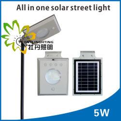 IP65 precio de fábrica! ! 5W integrado todos en una calle luz LED Solar! ! La inducción de infrarrojos del cuerpo humano! ! Pared/Jardín/patio/calle/carretera/Lámpara de césped