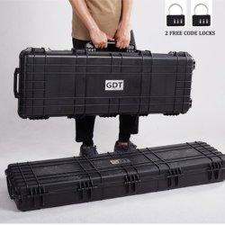 Wasserdichter beweglicher Militärharter schützender langer Gewehr-Plastikkasten