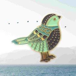 Pino de aves de esmalte macio Pinos de animal de estimação dos pinos de lapela emblemas nenhum pino metálico Ouro Mínimo Livre Design de arte-final
