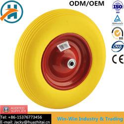 Kleur PU-wiel met stalen/kunststof velg (16*4.00-8)