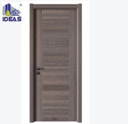 Simples de estilo chinês MDF barata HDF Madeira Melamina Quarto Design de porta