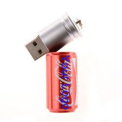コーラのためのUSB 16GBの金属のキーUSBのフラッシュドライバーは形を缶詰にする