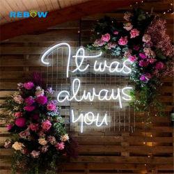 Os fabricantes de luz néon Flexível de LED decorativas de Silicone Custom pequena luz néon sinal indicativo de neon de casamento para não fumadores