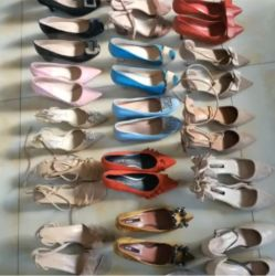 Fabricado en China por mayor venta de moda moda caliente Africa Tianjin Fengyi utiliza damas zapatos de tacón para la venta en África y de primera mano, más barato costo de envío