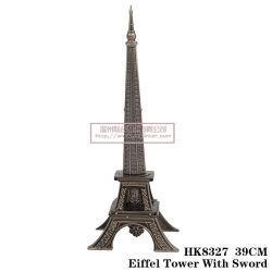 Torre Eiffel artesanato de metal Decoração 25cm HK8327