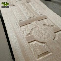 HDF moulé de la porte de placage de la peau par les cendres/teck lamellé/Sapeli/Oak/papier en mélamine