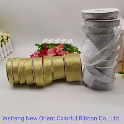 Cinta metálica de plata cinta textil decorativo con suficiente stock para Arco/ Envolver