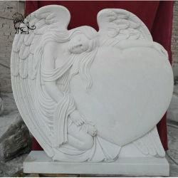 La sculpture en marbre de gros prix d'usine main Granite Tombstone Angel MTB-01