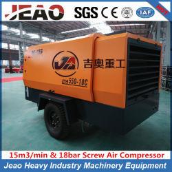 Дешевле (15м/мин и 18 бар) портативный винтовой компрессор дизельного двигателя для добычи полезных ископаемых и водных ресурсов, а также использовать