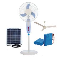 12 В постоянного тока Аккумулятор солнечной монтироваться на стену/Таблица/потолочный вентилятор с BLDC бесщеточный мотор с питанием от постоянного тока