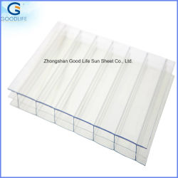 UV Coated Crystal Transparent Twinwall Polycarbonate Hollow Sheet