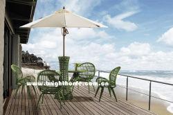 Série PE Rotin en aluminium naturel l'Osier mobilier extérieur