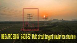 Megatro 500kv 5-5Go-SZ1 Multi Structure tubulaire tangent du circuit de fer