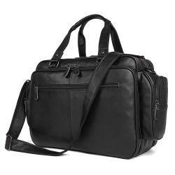 Fabrik-Preis fertigen schwarzen ledernen Handtaschen-Laptop-Beutel-Leder-Aktenkoffer für Männer kundenspezifisch an