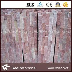 Pietra rossa della coltura della quarzite per il rivestimento della parete