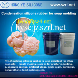 Caucho de silicona para moldes de jabón