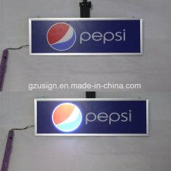 La publicité Super Mince LED clignotant Boîte à lumière dynamique