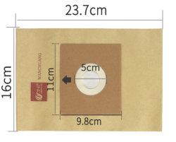 Satz von 12 Vakuumstaub-Filter-Papiertüten für Ansammlungs-Papiertüten SANYO-Sc-N200 Sc-Y109 Sc-A201 Sc-63A Efficdust
