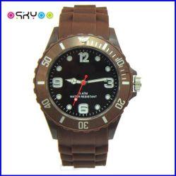 Bandes de silicium de mode Sports Genève quartz watch