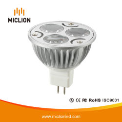 3W MR16 LED Cup met Plastic Base
