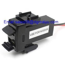 شاحن USB مزدوج، مقبس طاقة USB مزدوج بقدرة 5 فولت 2.1 أمبير/2.1A للهاتف الذكي PDA IPAD iPhone شاحن سريع لكابل Nissan