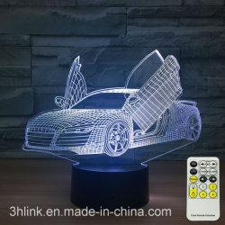 자동차 회사 승진 선물을%s 3D 스포츠카 착시 램프 밤 빛