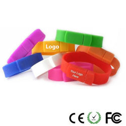 Nova Moda bracelete de silicone de Unidade de Memória Flash USB 2.0