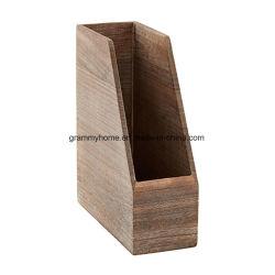 Titular de facturas trámites la presentación de la caja de almacenamiento de madera