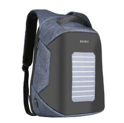 Facto gerador Solar Theftproof Ombro Duplo Computador Portátil Laptop Backpack (CY9811)
