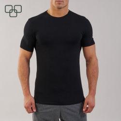 Мода высокое качество 100 хлопка мужские футболки сжатия