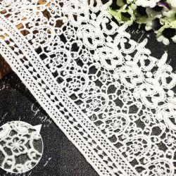 Merletto solubile in acqua del cotone del ricamo del commercio all'ingrosso 12cm per la decorazione