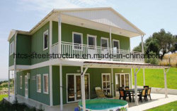 Eco Friendly Structure légère en acier Maison/la maison préfabriquée/panneau sandwich Maisons préfabriquées