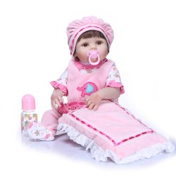 Fertilizantes NPK 57cm renasce Silicone completo boneca bebê Kid Playmate Dom para meninas Menininha Vinil Viva Peluches para Bebes renascer Brinquedo