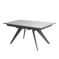 Regorgent de vie moderne en verre trempé de fer de la console extensible Haut Table à manger