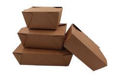 De directe Doos van de Lunch van de Doos van de Verpakking van het Karton van Kraftpaper van het Contact van het Voedsel Meeneem
