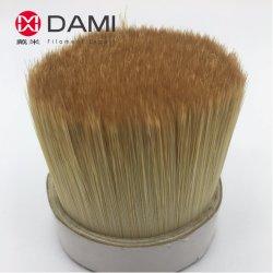 La Imitación de alto similares sintético blanco negro hierve las cerdas de nylon poliéster PBT Pet sólido hueco cónico de afilado de filamento de pincel de cerda